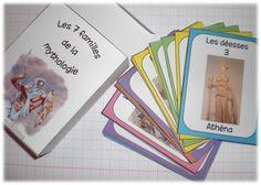 Gra w 7 rodzin mitologii - rok w Sight Word Games, Teaching French, Edd, Teaching Tools, Art History, Board Games, Religion, Learning, Voici