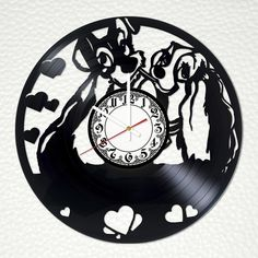 Lady and the Tramp Vinyl Record Wall Clock - VINYL CLOCKS