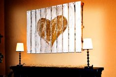 Pallets as wall art.