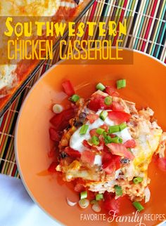 This southwestern chicken casserole an easy weeknight casserole that your whole family will love. Even our pickiest eaters love it!