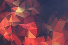 minimalism, Red, Abstract, Digital Art, Artwork, Low Poly, Geometry