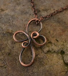 Antiqued Copper Wire Wrapped Cross Necklace by TheCasualCutie, $24.00