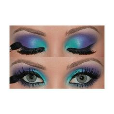 #Peacock #eyes #makeup