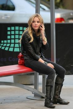 faded jeans and leather, cuff and man watch #pll