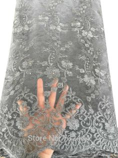2016 Embroidered High Quality Net Lace With Stones Grey Black Peach White Tulle African Lace Fabric,African Cord Lace Fabric