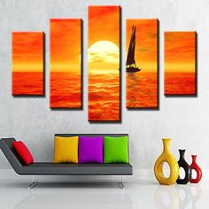 Plant Oil Painting Handmade Canvas Wall Art New Fashion Style the
