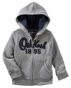 Kid Boy Heritage Fleece Hoodie from OshKosh B'gosh. Shop clothing & accessories from a trusted name in kids, toddlers, and baby clothes.