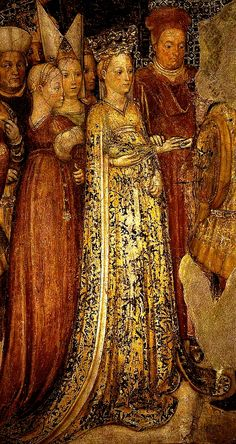 """1444 - """"Theodelinda, Queen of the Lombards, marries Agilulf, Duke of Turin"""" (mural, detail) by Niccola Zavattari"""