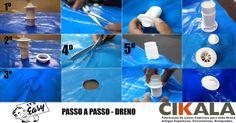 #dreno, #flange, #válvula, #lona, #piscina, #capadepiscina, #hth, #impermeável, #comofazer