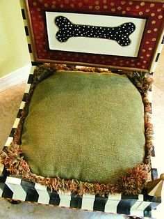 DIY end tables into dog beds