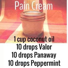 Pain Cream, going to add 10 drops of Aroma Siez to this to help with back pain