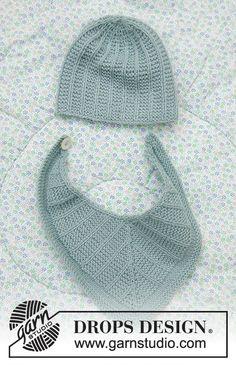Baby Business Set / DROPS Baby 33-20 - Kostenlose Strickanleitungen von DROPS Design Baby Knitting Patterns, Baby Hats Knitting, Baby Patterns, Free Knitting, Knitted Hats, Drops Design, Crochet Bib, Crochet Hats, Drops Baby