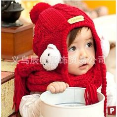 d0314ce0d20 Korean male and female baby hat hemp knit hat pattern cute bear ear hats  caps can be worn 10 36 months-in Hats   Caps from Mother   Kids on  Aliexpress.com ...