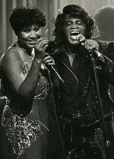 .Aretha Franklin with James Brown