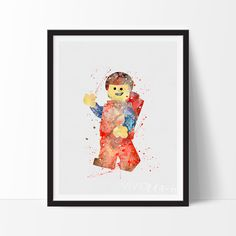 The Lego Movie water color paint