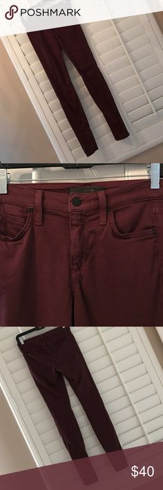 Joe's Jeans Super soft and comfy Joe's Jeans. Pretty purple color. Fit: mid rise legging 56% cotton 40% modal 4% elastane Joe's Jeans Jeans Skinny