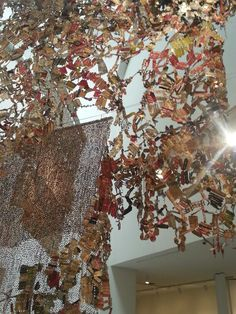 El Anatsui's inspirational art and colors at the #Brooklyn Museum.   #Omgoodness
