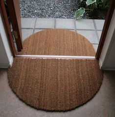 cut large entry mat into an indoor/outdoor set
