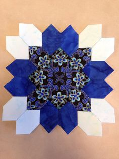 Lucy Boston quilt block made with English paper piecing. My favorite one so far!!