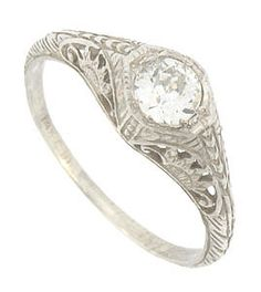 I would love to have a beautiful hand-cut diamond antique ring some day :)