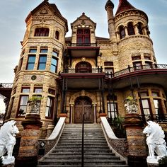 Architectural historians list the Bishop's Palace (Gresham House) as one of the most significant of Victorian residences in the country.  The house was built between 1887 and 1893 by Galveston architect Nicholas J. Clayton for lawyer and politician Walter Gresham, his wife Josephine, and their nine children.