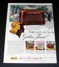 1940's maytag fridge | Rca Victor Radio, Golden (1946)