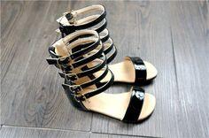 Littlesummer summer baby girls gladiator shoes Roman Children shoe kids leather  High heels open toe little girl fashion sandals