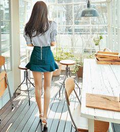 孙允珠(Son Youn Ju) Short Skirts, Denim Skirt, Sons, Model, Dresses, Fashion, Vestidos, Moda