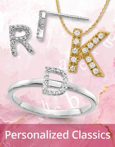 Let's get personal! Diamond alphabet pendants, earrings, and rings remain essential in one's personalized 14K jewelry wardrobe. Shop all styles today: #QualityGold #DiamondPendant #BestSelling #jewelry #14KJewelry #DiamondJewelry #FashionTrends #NewStyles #DiamondNecklace #PersonalizedJewelry #AlphabetPendants