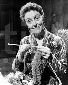 One More Stitch: Famous Knitters – Joyce Grenfell. Knitter, female beauty, precious, face, hands, fingers, vintage, focus, crafting, photo b/w.