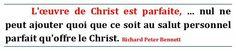 La perfection de l'oeuvre de Christ