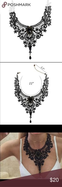 Elegant Handmade Lace Beads Necklace Elegant Handmade Lace Beads Collar Choker Necklace Gothic Vintage Statement for Women Beauty Party Wedding Jewerly Accessories (new in package) Jewelry Necklaces