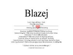 Blazej name means lisping and stammering -firstnamestore.com