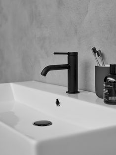 Hoxton Collection Britton Bathrooms Matt Black Basin Tap / Mixer. Available in Chrome and Brushed Brass