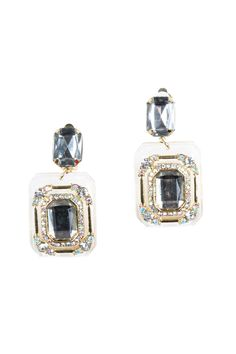 Crystal and Resin Earrings
