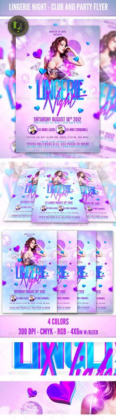 Ladies Night Party - Club Flyer Template - Clubs & Parties Events Ladies Night Party – Club Flyer Templater Good for Ladies Night Themed Events and more (love, valentines, birthday parties, anniversary) 4×6 with bleed 4 Colors Credits list/link included Free Fonts (list included) Layered PSD , Well organized in folders and color coordinated. Print and web ready CMYK RGB Models are NOT include in file Please rate and follow