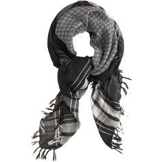 J.Crew Diamond and plaid scarf $65