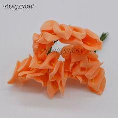 144Pcs 2*2.5cm Handmade Mini Calla Lily PE foam artificial flowers wedding decoration DIY Bouquet simulation Flower Decor 8DA010