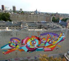 STREET ART UTOPIA »Wij verklaren de wereld zoals onze canvas9 Galeria Urban Art Forms in Lodz, Polen. Door Kenor 2 »STREET ART UTOPIA