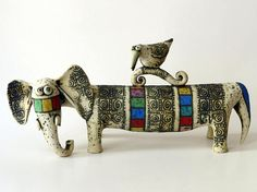 Elephant Silhouette, Ceramic Elephant, Pottery Animals, Elephant Sculpture, Art Corner, Animal Sculptures, Ceramic Sculptures, Ceramic Clay, Ceramic Artists