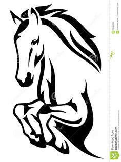 horse outline - Google Search
