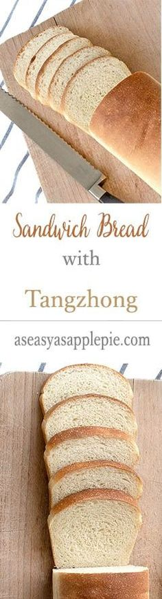 Sandwich bread with Tangzhong (or water-roux) is tender, soft and stays fresh even after a few days.