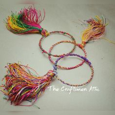 Tassel bangles, handmade