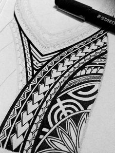 I created a Polynesian half sleeve tattoo design for my brother, displaying many of the typical patterns shown in Polynesian art. This is a very detailed freehand piece, completed only in black pen and pencil. Polynesian Tattoo Designs, Polynesian Art, Maori Tattoo Designs, Tattoo Design Drawings, Tattoo Designs And Meanings, Polynesian Tattoo Sleeve, Hawaiian Tattoo, Samoan Tattoo, Tattoo Maori
