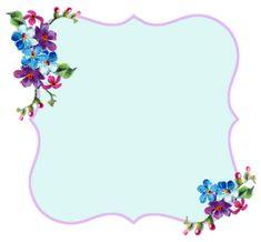 ♥Freebie Image: Pretty Lavender and Blue Printable Frame ♥