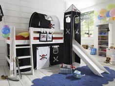 Epic Kinderzimmer Pirat Rutsche Hochbett Phantasie Freuen Eltern Gestalten Coole Kids Zimmer