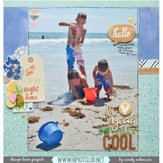 Hello and Happy Friday  Check out this amazing beach LO created by team member @wantenucci using our #september2015 kits featuring @americancrafts #dearlizzy @amytangerine #woodveneer #hipkitclub #hipkits #scrapbooking #scrapbook #scrapbookkits
