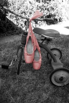 ballet shoes and a tricycle