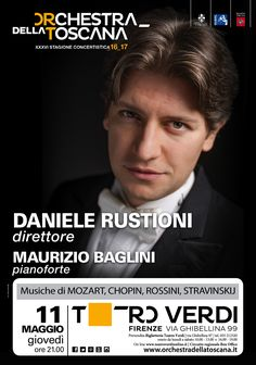 Concerto Rustioni_Baglini |  Stagione 2016_17 | grafica Ufficio Comunicazione ORT | foto Marco Borrelli