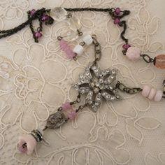 So pretty. #vintage #pink #necklace